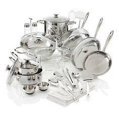 Wolfgang Puck Cookware....  love the stainless...  voted  by consumer reports every year  as a great set