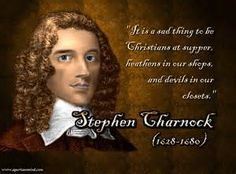 Stephen Charnock (1628–1680), Puritan divine, was an English Puritan Presbyterian clergyman. His sermons were published mostly after his death; they reflect the characteristic Puritan divine's concern for central Gospel themes. His most important work was entitled Existence and Attributes of God.