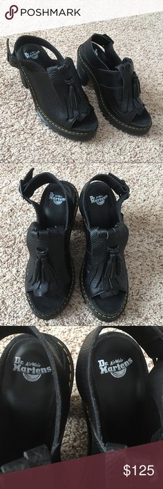 Authentic Dr. Martens Black Leather Shoes GORGEOUS 💕 These are classic Dr. Martens AirWair black leather shoes! Size 8 and very comfortable ! Never used and in like new condition. NO TRADE ❌ Dr. Martens Shoes