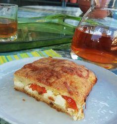 Φοιτητική κουρού με φέτα και ντοματίνια French Toast, Breakfast, Food, Morning Coffee, Essen, Meals, Yemek, Eten