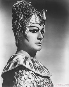Corelli as Rhadames~ so.. what kind of makeup was Aida wearing?