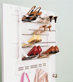 Keep your closet neat and organized with a closet organizer. We researched options for the best closet organizers available, so you can start putting things in order. Shoe Holder For Closet, Over Door Shoe Rack, Shoe Rack Closet, Door Rack, Shoe Racks, Closet Doors, Small Closet Space, Small Closets, Small Space
