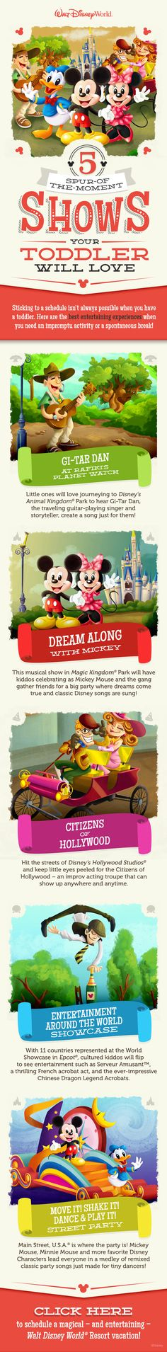 5 Spur-of-the-moment Shows Your Toddler Will Love During Your Walt Disney World Vacation! #tips #tricks