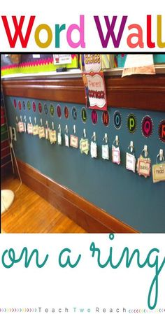 Space saving interactive Word Wall! This post has tons of great classroom ideas!