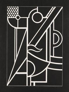 Roy Lichtenstein. Modern head # 3. Linocut with embossing. 1970.