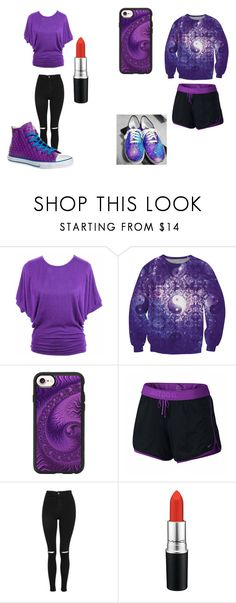 """blair *oc*"" by billiejogregg on Polyvore featuring jon & anna, Casetify, NIKE, Topshop, MAC Cosmetics and Converse"