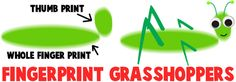 AHCarts&crafts:Making Fingerprint Grasshoppers and other crafty grasshoppers/crickets