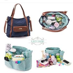 Cell-phone ringing? No prob. The outer pockets in the 'Baby Bag' are perfect for quick access and easy storage. OH and did you know the 'Baby Bag' is removable and machine-washable? Lily Jade Designer Diaper bags
