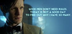 As Matt Smith's reign as the Doctor is about to come to a close with the Christmas Special, we look back on his most quotable moments throughout the past three seasons.