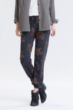OBEY - Lola Women's Sweatpants, Heather Black Floral