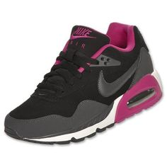 NIKE Womens Air Max Correlate Leather Shoe, Black/Rave Pink
