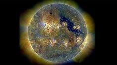O Observatório de Dinâmica Solar da Nasa faz imagens como esta - com luz ultravioleta - em que a nossa estrela mais próxima parece uma joia.  (Foto: Nasa)