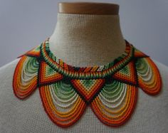 Embera beaded statement necklace