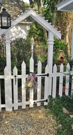 Garden gate in summer