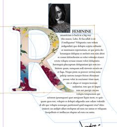 drop cap adobe indesign typography magazine design fill with image