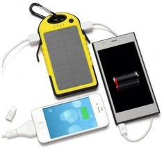 newest Universal 5000mAh Dual-USB Water proof Solar Power Bank Battery Charger for Cell Phone smarphone portable wireless power