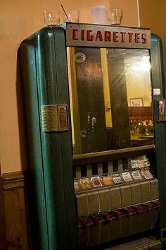 vintage cigarette machine by Detective Steve, via Flickr
