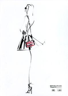 Chain bag. Illustration by Miyuki Ohashi.