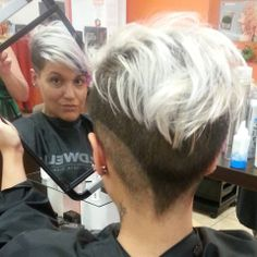 two toned shorn nape