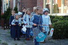 Sint-Maarten (the Dutch Halloween). On the 11th of November, children go out on the street with lanterns (which they made by themselves, most of the time at school). To get a candy, they have to sing a little song at the door. Sint Maarten is not celebrated in every provence of The Netherlands though, but it is very common in Noord-Holland (North Holland)