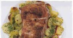 Receta de Costillar de cerdo asado con patatas al microondas
