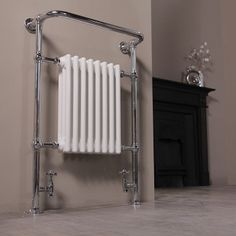 The Regent floor standing radiator is an elegant heating option for the most stylish of bathrooms. It measures 963 x 673 x 230mm and outputs 3516 BTUs.