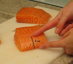 Sushi a La Carte :: Como Cortar o Salmao para Nigiri