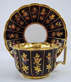 Antique Old Paris Tea Cup & Saucer, ca. 1830