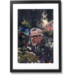 "Framed Sartorial Painting No.122 Mr.David Print, 16"" X 24"" Black Wood, Solid Black, David, The Republic, Outline, Frame, Museum, Painting, Artist"