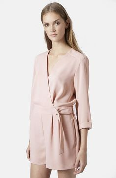 Topshop Wrap Romper available at #Nordstrom