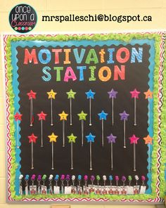 I'm just stopping in quickly to show some pictures of how I display my student motivation board for my Books and Beads At-Home Reading Progr...