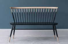 welcoming hallway bench seats with backrests made in design affiliate partner Ercol Furniture, Home Decor Furniture, Dining Furniture, Furniture Making, Painted Furniture, Modern Furniture, Furniture Design, Painted Chairs, Furniture Ideas