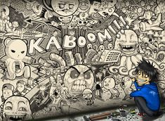 Free Download Kaboom Graffiti Wallpaper