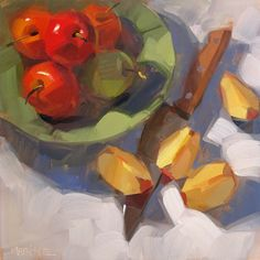 DPW Fine Art Friendly Auctions - Apples, Cut and Uncut by Carol Marine
