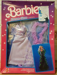 Vintage barbie doll clothes no 2192 Dream Glow circa 1985 Doll Clothes Barbie, Vintage Barbie Dolls, Doll Outfits, Fashion Now, Glow, Ebay, Sparkle