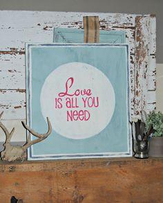 {Vintage LOVE Sign}