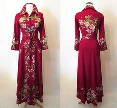 Fabulous 1940's Hand Embroidered Floral Print by wearitagain