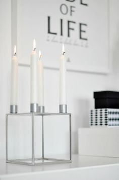 Kubus Ljusstake by Lassen Candleholder By Lassen, Lego, Light My Fire, Candels, Organic Modern, Scandinavian Home, Nordic Style, Interior Inspiration, Interior And Exterior