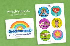 Morning Greetings Chart for Preschool - Box of Ideas
