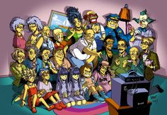 The Simpsons... As drawn in a completely different style.