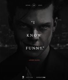 "Jerome Valeska aka The Joker from ""Gotham"". :D<<Oh GOD he is good! Like a young Jack Nicholson. Very creepy. Gotham City, Jerome Gotham, Gotham Joker, Gotham Villains, Joker Art, Joker And Harley Quinn, Batman Arkham, Batman Art, Batman Robin"