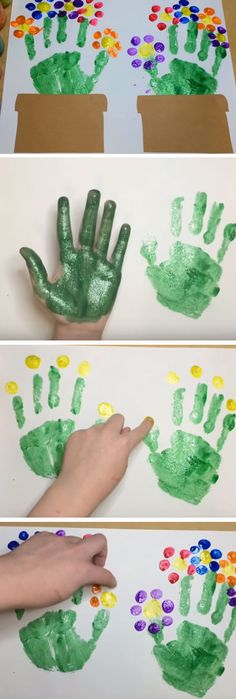 Handprint Flowers | DIY Mothers Day Crafts for Grandma | DIY Gifts for Mom for Christmas