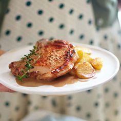 Schweinekotelett mit Honig-Balsamico-Sauce