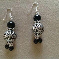 Aretes de perlas negras