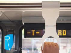 The Rail Reach by Justin Choy — Kickstarter.  Get that extra reach to grab rails on public transportation. Never touch another dirty rail by carrying your own portable handle. $10