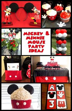 A collection of fun, DIY projects for a Mickey Mouse Birthday Party.  And for more great kids party ideas follow us at http://www.pinterest.com/2SistersCraft/