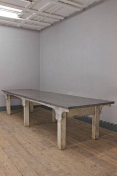 A painted refectory table with zinc top £2450
