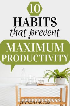 If you struggle with productivity, find out how these 10 habits prevent you from achieving maximum productivity! #productivity #productive #productivehabits #lifehacks #getstuffdone #productivityhacks How To Better Yourself, Improve Yourself, Becoming A Better You, College Survival, Productivity Apps, College Tips, Study Tips, Wellness Tips, Getting Things Done