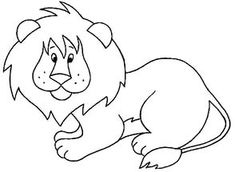Free Animals Lion Printable Coloring Pages For Preschool