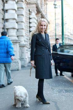 Walking the dog: Franca Sozzani, Italian